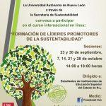 Cartel promocional del curso Formación de líderes en sustentabilidad